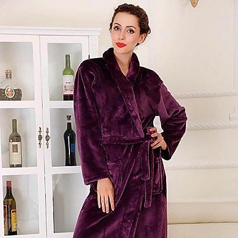 GNZM- accappatoio, di alta classe indumento viola scuro accappatoio
