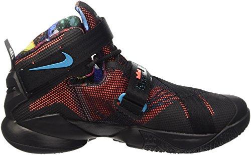 Nike Lebron Soldier Ix, Scarpe sportive, Uomo Blk/Hypr Orng-Bl Lgn-Grn Shck