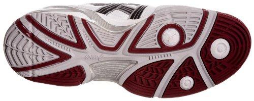 Asics Herren Tennisschuhe White/Black/Brick Red