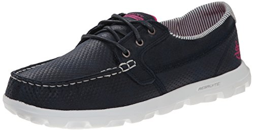 Skechers Performance On-the-go Flagship Slip-on Boat Shoe Navy/White