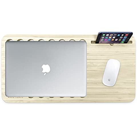 ISkelter ardesia 2,0 con spazio per scrivania, LapDesk For Magic Keyboard and Magic Mouse Limited Walnut Bamboo
