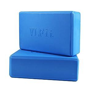 VLFit 2er-Set Yoga Blöcke/Yogablock – hochdichter Eva-Schaum, Fitness-Block, Umweltfreundlich und Leicht – Wählen Sie Ihre Farbe und Größe (Set mit 2)