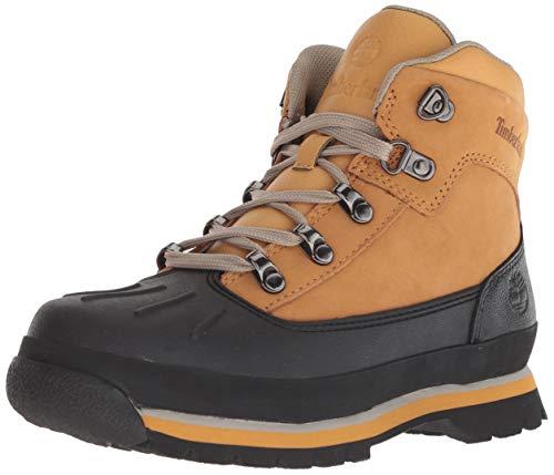 Timberland Kids Euro Hiker Shell Toe Chukka Boots, Braun (Wheat), 31 EU Mid Cut Hiker Boot