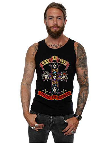 Guns N Roses Uomo Appetite For Destruction Canotta Medium Nero