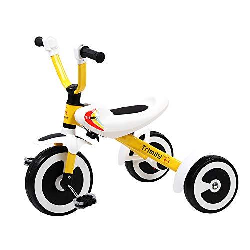 Aocean Kleinkinder Baby,Kinder Dreirad zusammenklappbar Fahrrad Ultraleicht Flüsterleise Rad Dreirad für Kinder Belastbarkeit bis 30 kg, Yellow