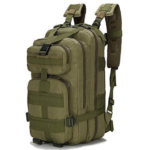 Junyee Outdoor Wandern Rucksack, Multifunktionale Militärische Ausrüstung Camping Wasserdichte Camouflage Rucksack für Trekking, Angeln und Jagd (Armee Grün)