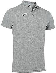Joma - Polo hobby gris melange claro m/c para hombre