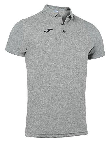 Joma - Polos hobby gris melange claro m/c para hombre