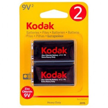 Kodak Zinc 9V PP3 2 Pack Batteries - 2 Pack 9v-batterie
