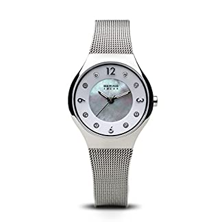 BERING Reloj Analógico para Mujer de Energía Solar con Correa en Acero Inoxidable 14427-004