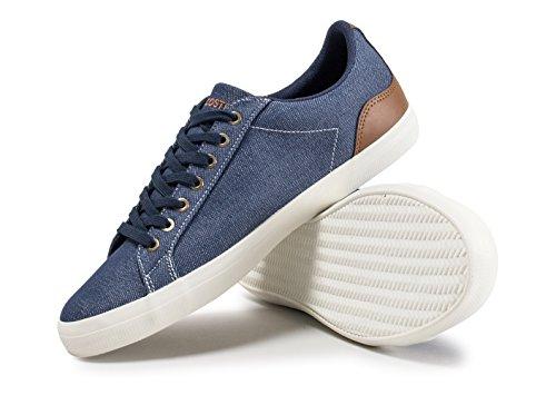 Azul Marino Lacoste Zapatos Lerond Azul Lona De Marrón 317 Bajo Los ZwvAqTZ
