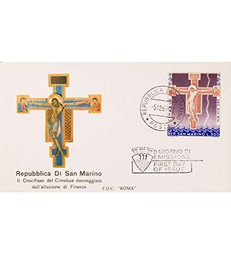 Goldhahn San Marino Nr. 902 FDC Ersttagsbrief Cimabue Gemälde Briefmarken für Sammler -