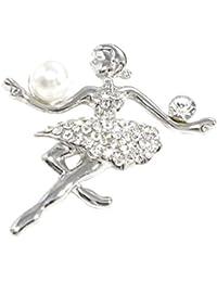 Juego de cama, diseño de bailarina con chapado de oro cristales