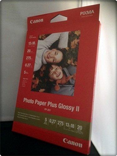 Canon Fotopapier, 20 Blatt 13 x 18, Hochglänzend glossy, 265g PP-201 Photo Paper Plus Glossy II 265g, 13x18, PP201 - Plus Glossy Ii Photo Paper