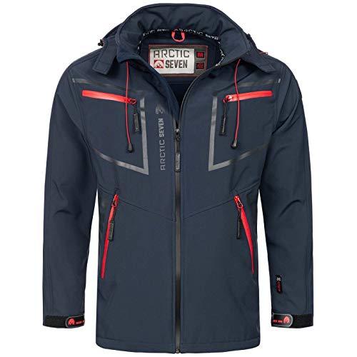Arctic Seven Herren Designer Softshell Funktions Outdoor Regen Jacke Sport AS088 [AS-088-Navy-Gr.S] Navy Sport Jacke