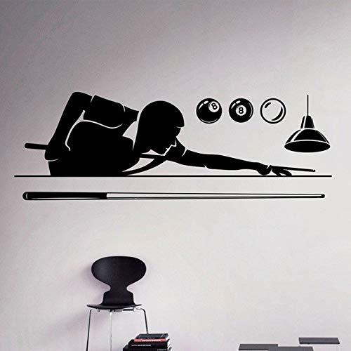 123X42Cm Billard Pool Wandtattoo Poolroom Hobby Vinyl Aufkleber Sport Art Decor Home Interior Abnehmbare Poster An Der Wand Wallpape (Bilderrahmen Billard)