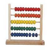 Backbayia 2 Stück 5 Reihen Holz Mathematik Abakus Lernspielzeug Geschenk für Kinder