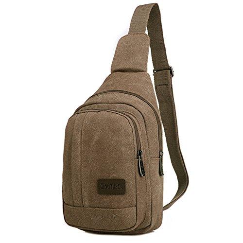 Imagen de e jiaen paquetes de senderismo sling bolsa pecho hombro gimnasio  saco bolso al aire libre crossbody pack, café