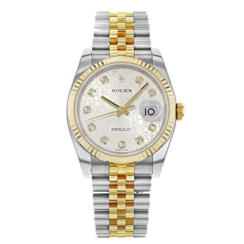 Rolex Datejust 116233argento diamanti Giubileo 2017automatico quadrante...