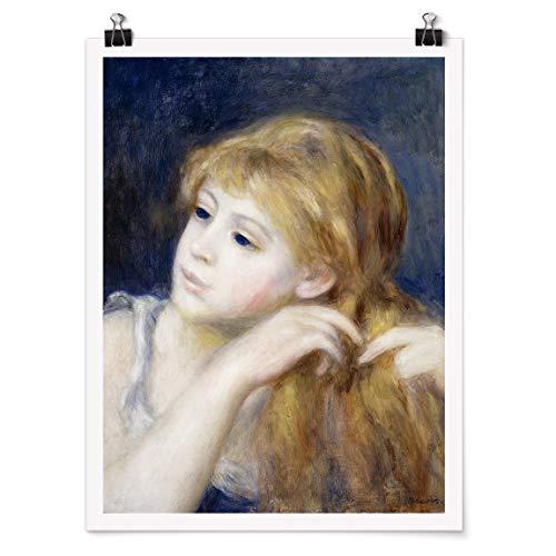 Bilderwelten Poster Wall Art Auguste Renoir - Kopf eines Mädchens Glänzend 60 x 45cm