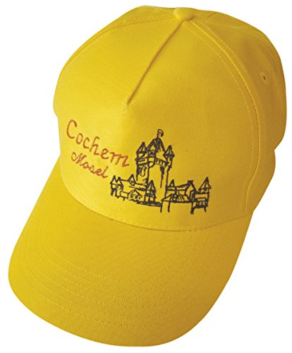 Fan-O-Menal Baseballcap mit Einstickung - Burg Cochem Mosel - 68883 Gelb