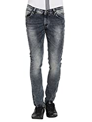 Spykar Mens Black Skinny Fit Low Rise Jeans (36)