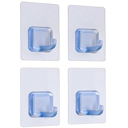 Bagno Adesivo Ganci trasparente resistente Max 17.6lb/8kg impermeabile Oilproof 4pcs/pack