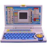 Techhark Learning Laptop Toys 20 Activities, Spy Yellow And Pink Laptop For Kids (blue)