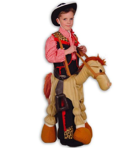 Fasching Tierkostüm Pferd Pferdekostüm Pony zum umhängen Kostüm für Kinder Einheitsgröße (Günstige Pferd-kostüm)