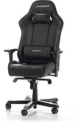 DXRacer (das Original) King K06 Gaming Chair für High End PC/PS4/XBOX/Nintendo, ergonomischer Schreibtischstuhl fürs Büro aus Kunstleder, Schwarz