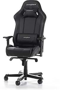 DXRacer (das Original) King K06 Gaming Stuhl für PC/PS4/XBOX ONE, ergonomischer Schreibtischstuhl aus Kunstleder, Schwarz