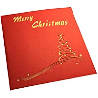 Scrox 1x Arjeta de Felicitación de Navidad Decoracion Mesa DIY Tarjeta Hecho a Mano con Diseñoen 3D Navidad Tarjeta Creativo Regalos Originales para Mujer (Estilo#6)