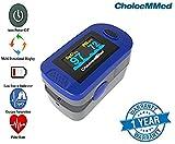 Fingerpulsoximeter MD300C2 mit 6fach-OLED-Anzeige, inklusive Aufbewahrungstasche, Silikonschutzhülle, Trageband, Batterien,