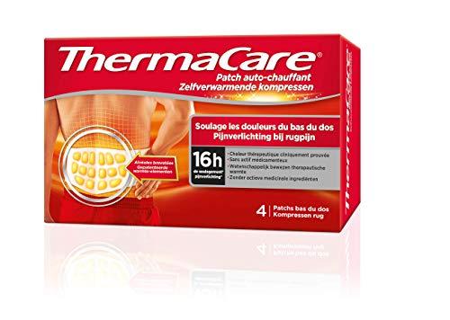 ThermaCare - Patch, selbstwärmend, Rücken - lindert Schmerzen im unteren Rücken - 8 Stunden konstante Wärme - Box mit 4 Rücken-Pads