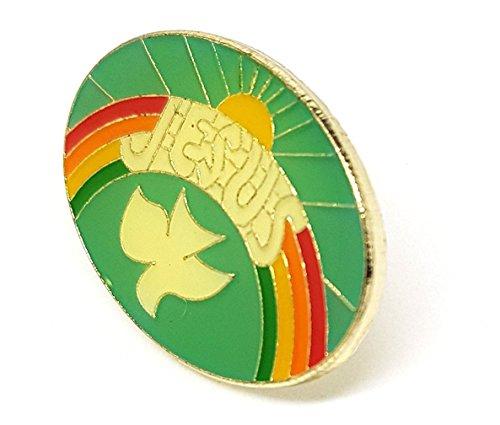 Shopiyal Regenbogen-Sonne Jesus Anstecknadel Gott Christian Brosche Heilige Liebe Luv Herz Taube Peace Pride Regenbogen Metall Emaille Revers Brosche