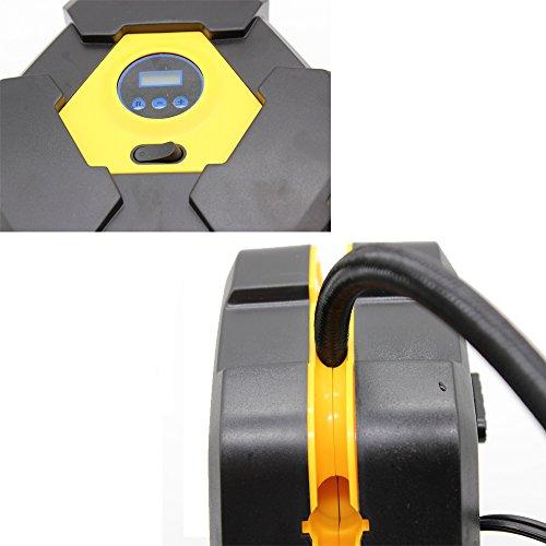 Digitaler Luftkompressor 12V 10A Digitaler Bildschirm Auto Luftpumpe Schnell Air Inflator mit Manometer 150 PSI für Motorrad Fahrrad Basketball - 5