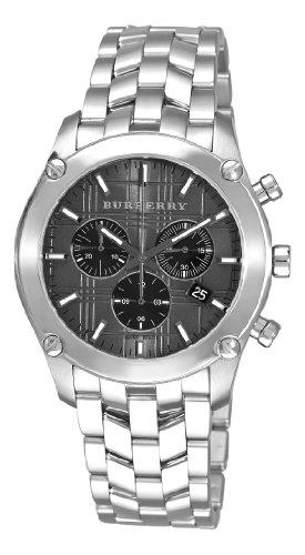 Burberry BU1850 - Reloj cronógrafo de hombre, color gris y negro