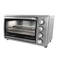 Black & Decker TO4314SSD Rotisserie Convection Countertop Toaster Oven, Silver