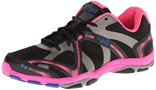 Ryka Damen Influence, w, Black/Atomic Pink/Royal Blue/Forge Grey, 39.5 EU