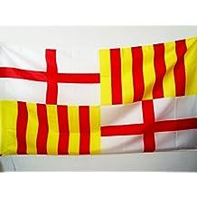 AZ FLAG Bandera de la Ciudad DE Barcelona 90x60cm para Palo - Bandera  BARCELONESA 60 x 4856bfc2534
