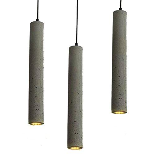 3*G9 Hängeleuchte Vintage Pendelleuchte Retro Zement Pendellampe Edison Hängelampe Kronleuchter La-Cakus Industrielle Deckenleuchte für Wohnzimmer Esszimmer Restaurant Keller Cafe Bar (Birne enthält)