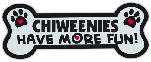 Dog Bone Shaped Magnets: Chiweenies Have More Fun! | Cars, Trucks, Mailboxes by Crazy Sticker Guy (Fun Mailbox)
