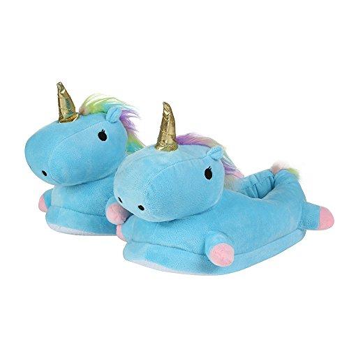 Rcool inverno pantofole donna unicorno home morbido antiscivolo cotone scarpe in casa caldo peluche camera da letto casa pattini 4 colore,