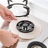 ETbotu Runde Gasherdschoner Herdbrennerabdeckungen Kochfeldschutzmatte Kochfeldverkleidung Pad 1 stück beige