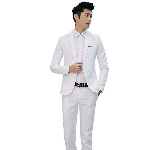 KPILP Zweiteiliger Anzug Mans Strickjacke Sakkos Business- und Freizeitanzug Der Bräutigam Trauzeuge Hochzeit Formelle ()
