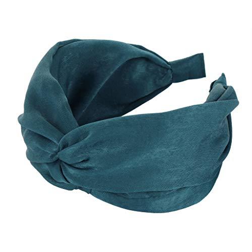 Zegeey Damen Haarschmuck Einfache Mode Einfarbig Retro MäDchen Haarschmuck Haargummis Haarband Verfassungs Partei Headwear(Dunkelblau) - Für Engel-hut Frauen