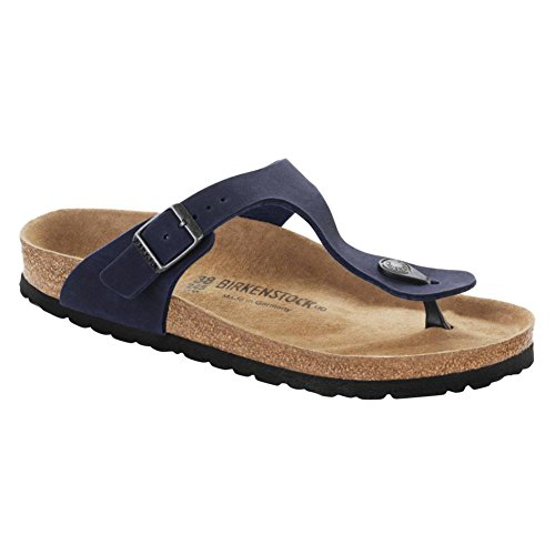 Birkenstock Gizeh Vegan, Tongs mixte adulte bleu