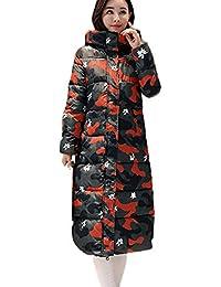 ☺Wintermantel Daunenjacke Damen Übergangs Jacke Premium Outwear Frauen  Winter Daunenmantel mit Kapuze Camouflage Steppjacke Leichte d48379a3e9