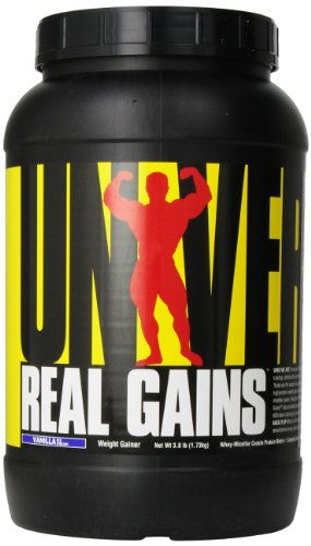 Universal Nutrition, Real Gains Vanilla Ice Cream, 1730 g Gain-booster