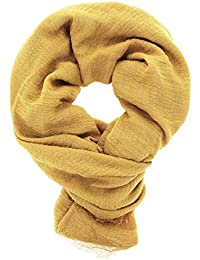 Amazon.fr   Echarpe Jaune Moutarde - Foulards   Echarpes et foulards ... f798e2dfdf6